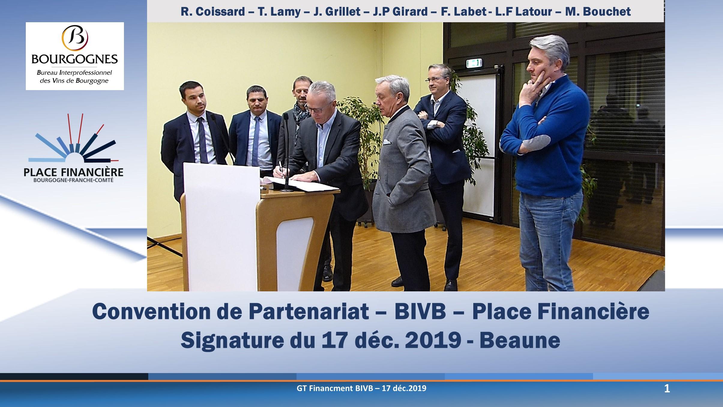 Convention BIVB - Place Financière